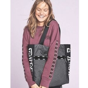 Victoria's Secret PINK Large Gray Marled Tote Bag